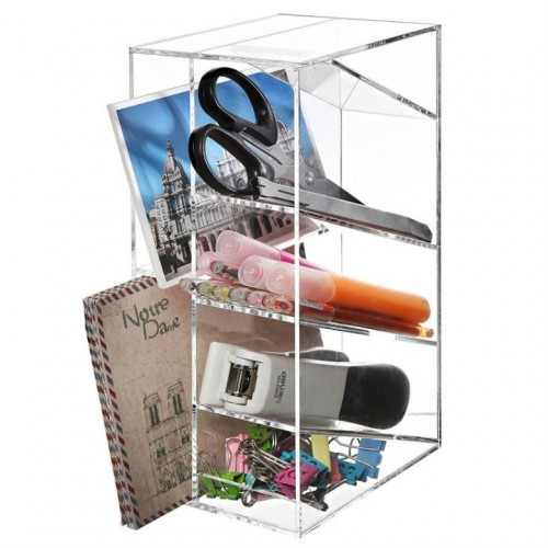 Office Organizer Clear Acrylic Pen Holder