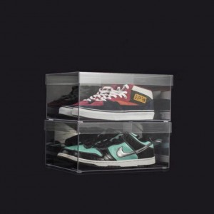High Transparency Acrylic Shoe Display Case Acrylic Shoe Boxes