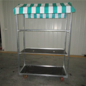 Galvanized Danish Trolley With Roof